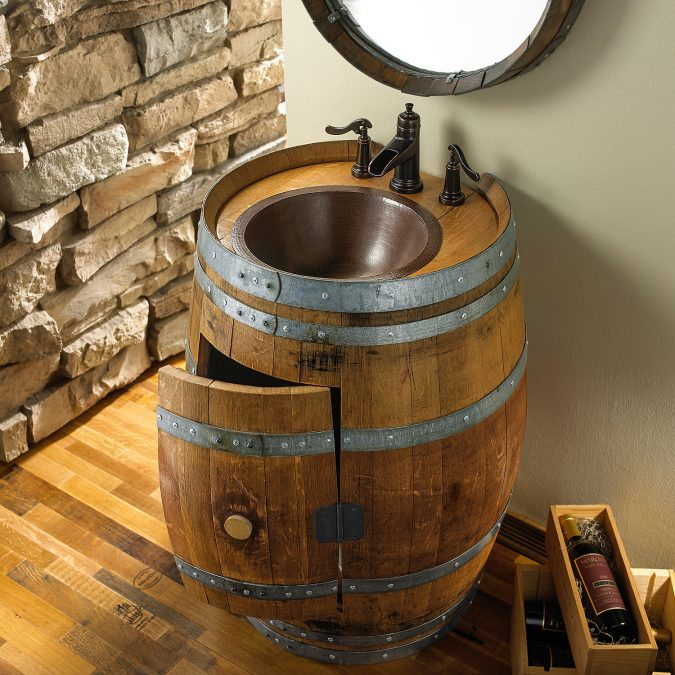 Water-and-wine-vanity-2-675x675 15 Ideas to DIY Your Stylish Bedroom & Bathroom Vanities