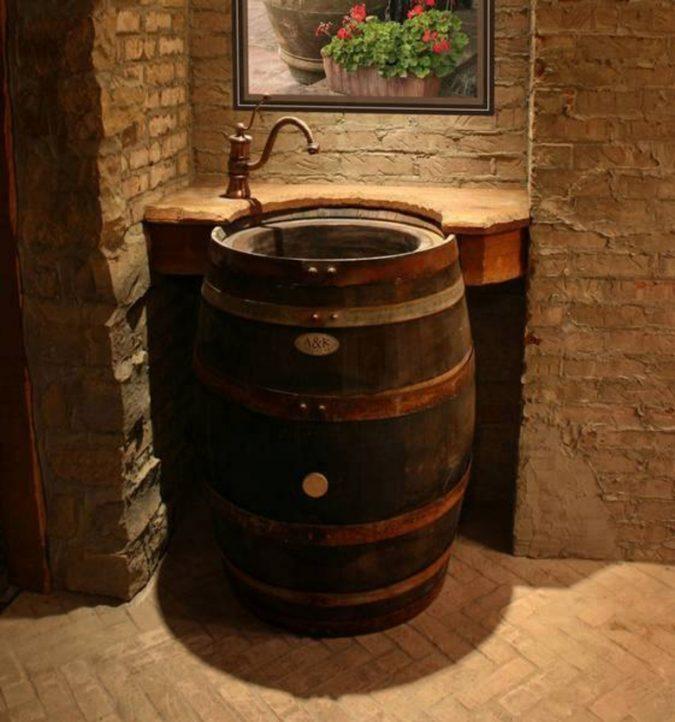 Water-and-wine-vanity-675x722 15 Ideas to DIY Your Stylish Bedroom & Bathroom Vanities