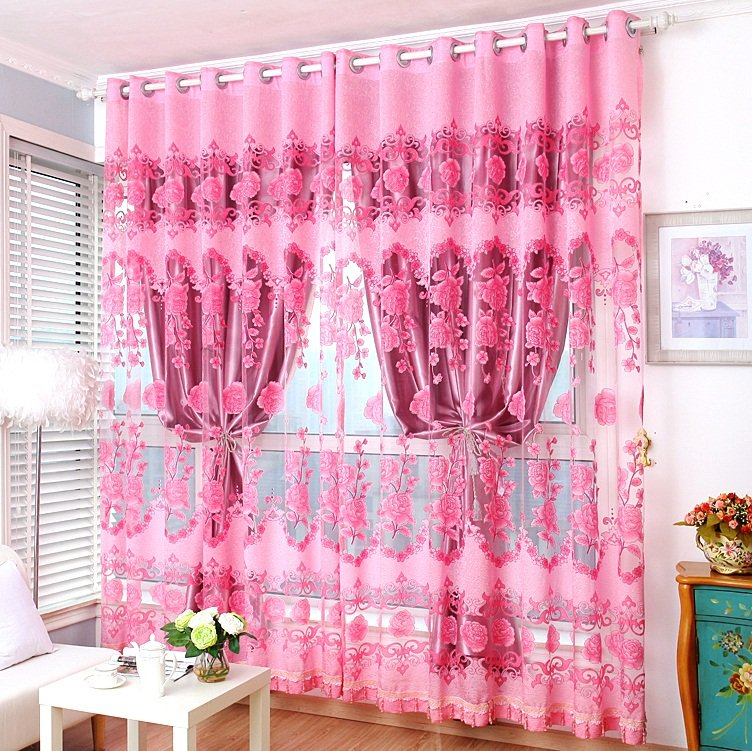 american-wedding-room-warm-sun-shade-cloth-gauze-curtains-finished-bedroom-living-room-floor-to-ceiling-windows-cloth-pink-room-curtains-blinds-587641_987 20+ Hottest Curtain Designs for 2018