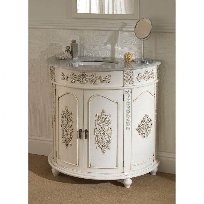antique-vanity-bathroom-675x675 15 Stylish Bedroom & Bathroom Vanities DIY Ideas in 2020