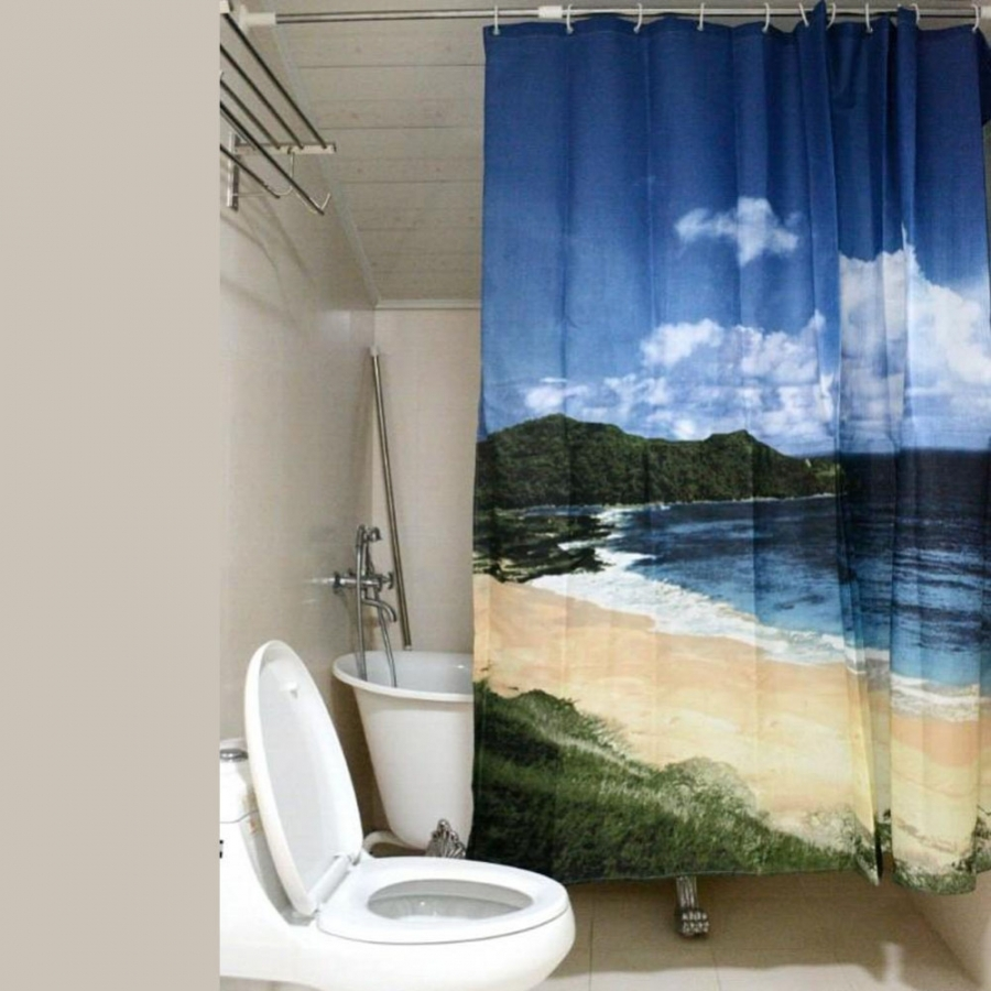 beach-style-shower-curtains-osbdata-pertaining-to-best-nature-themed-shower-curtains 20+ Hottest Curtain Designs for 2018