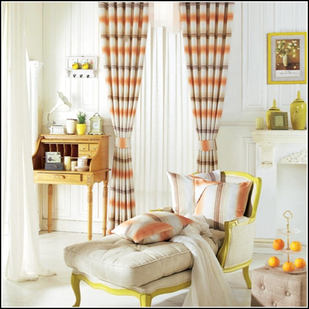 black-and-burnt-orange-curtains 20+ Hottest Curtain Designs for 2019
