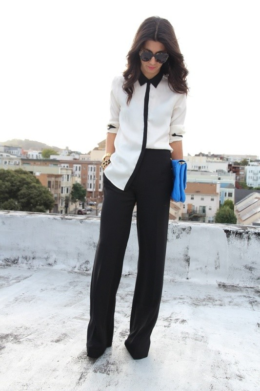 black-and-white-color-combination-14-1 87+ Spring & Summer Office Outfit Ideas for Business Ladies 2018