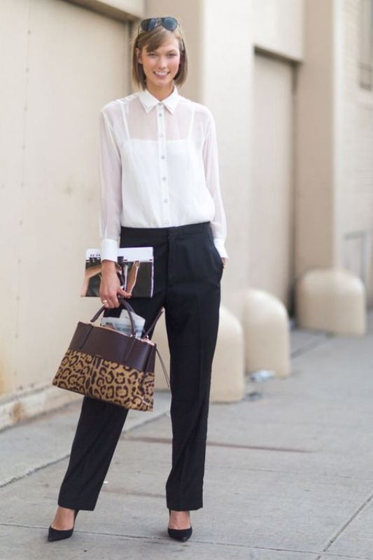 black-and-white-color-combination-16-1 87+ Spring and Summer Office Outfit Ideas for Business Ladies 2019