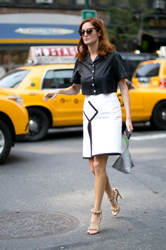 black-and-white-color-combination-22-1 87+ Spring and Summer Office Outfit Ideas for Business Ladies 2019