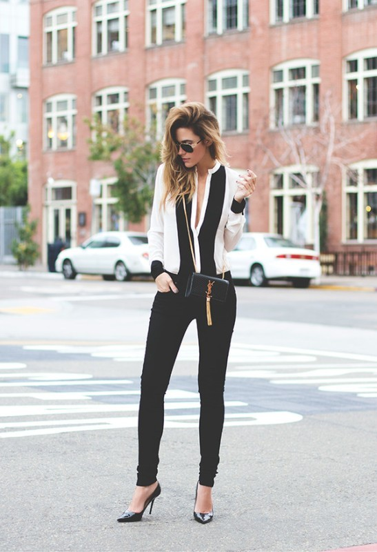 black-and-white-color-combination-26-1 87+ Spring and Summer Office Outfit Ideas for Business Ladies 2019