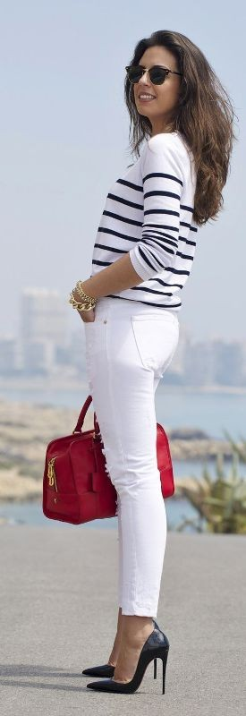 black-and-white-color-combination-3-1 87+ Spring & Summer Office Outfit Ideas for Business Ladies 2018