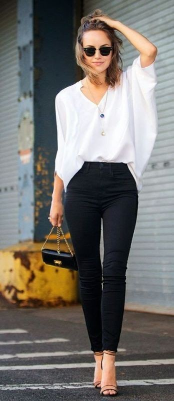 black-and-white-color-combination-4-1 87+ Spring and Summer Office Outfit Ideas for Business Ladies 2019