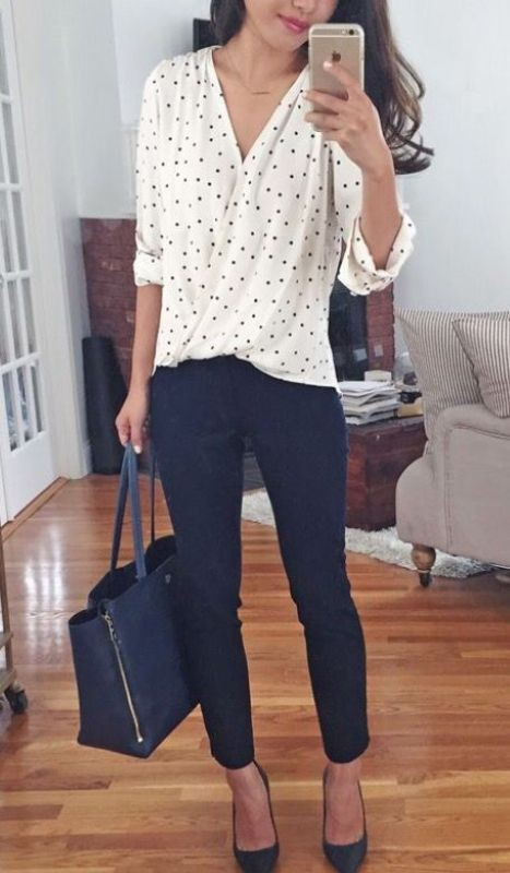 black-and-white-color-combination-7-1 87+ Spring & Summer Office Outfit Ideas for Business Ladies 2018