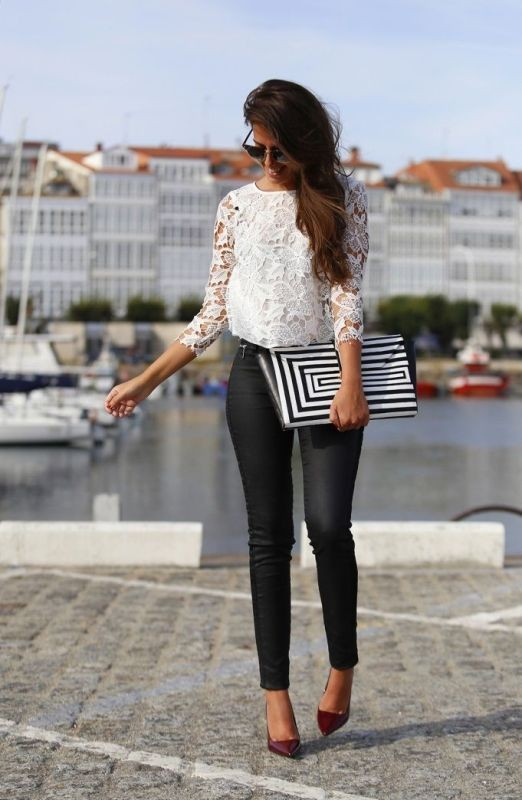 black-and-white-color-combination-9-1 87+ Spring and Summer Office Outfit Ideas for Business Ladies 2019