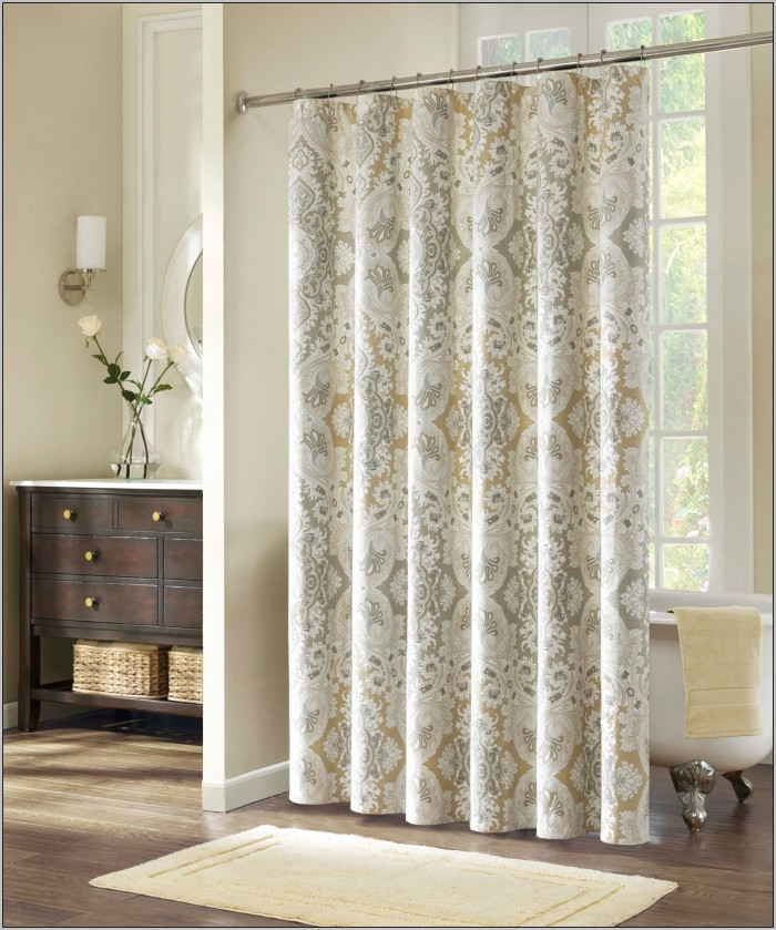 black-and-white-patterned-shower-curtains-700x839 20+ Hottest Curtain Designs for 2018