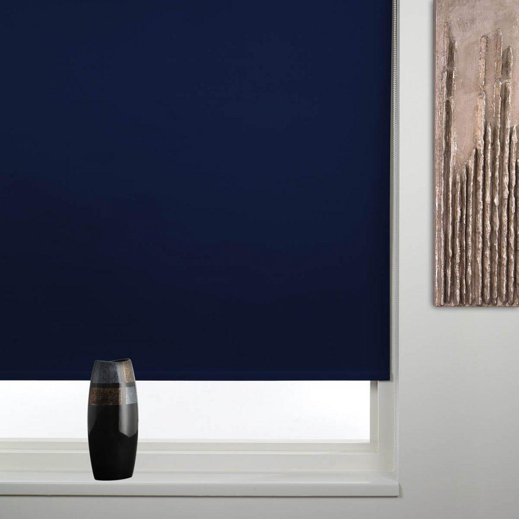 blackout-navy-blue-roller-blind 20+ Hottest Curtain Design Ideas for 2021