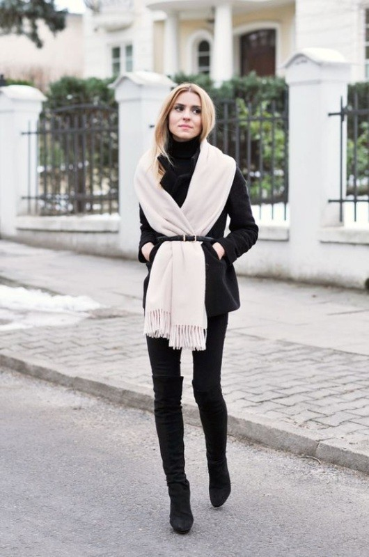 boots-and-tights-12-2 83+ Fall & Winter Office Outfit Ideas for Business Ladies 2020