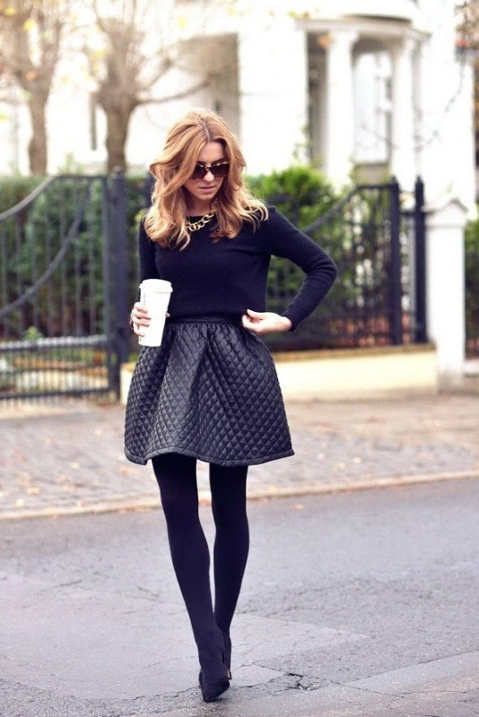 boots-and-tights-14 83+ Fall & Winter Office Outfit Ideas for Business Ladies 2020