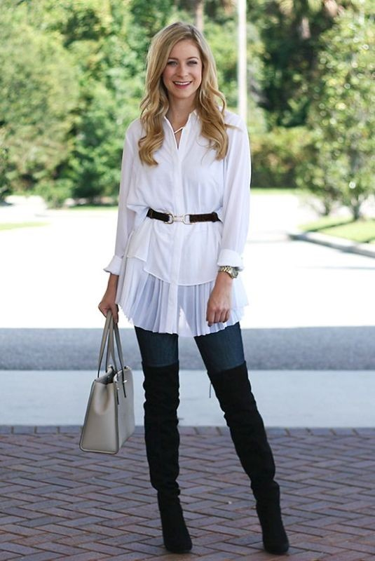 boots-and-tights-4-2 83+ Fall & Winter Office Outfit Ideas for Business Ladies 2020