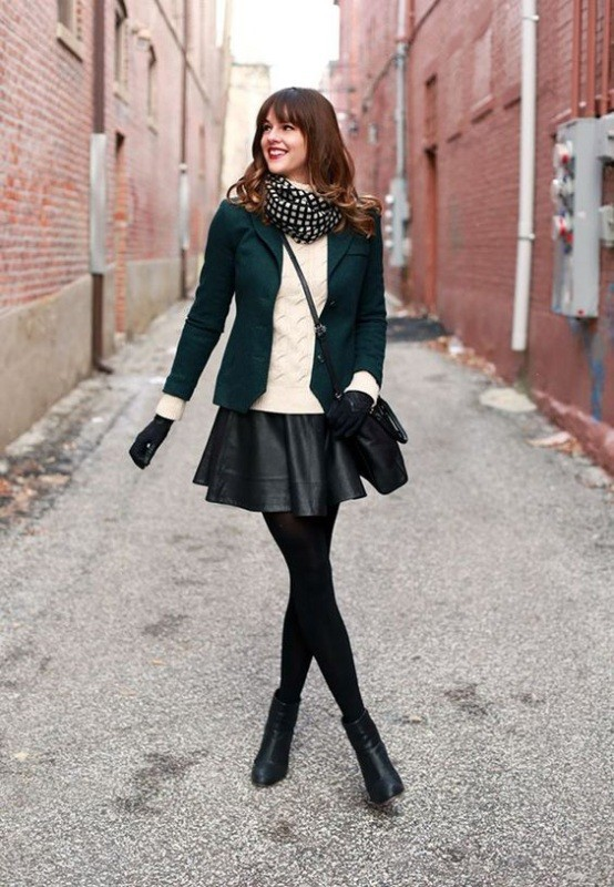 boots-and-tights-6-2 83+ Fall & Winter Office Outfit Ideas for Business Ladies 2020