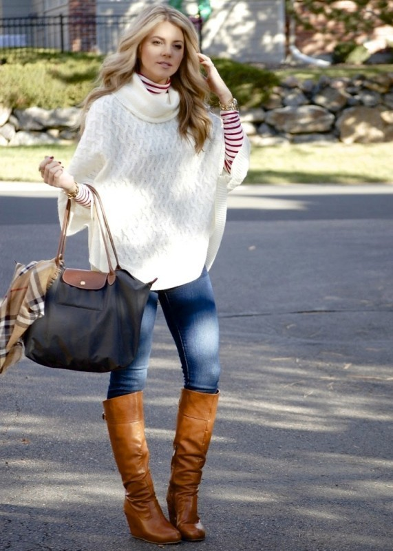 boots-and-tights-7-2 83+ Fall & Winter Office Outfit Ideas for Business Ladies 2020