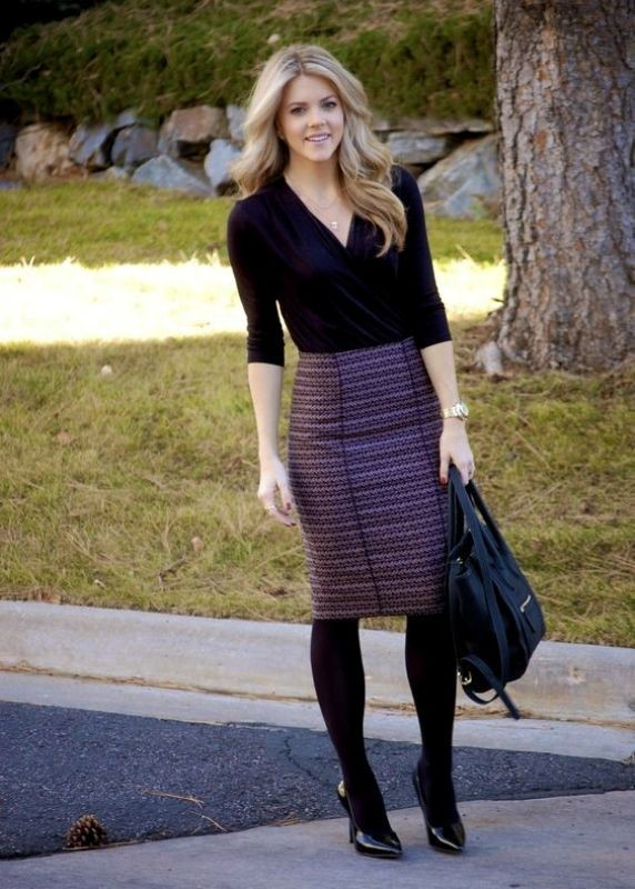 boots-and-tights-8-2 83+ Fall & Winter Office Outfit Ideas for Business Ladies 2018