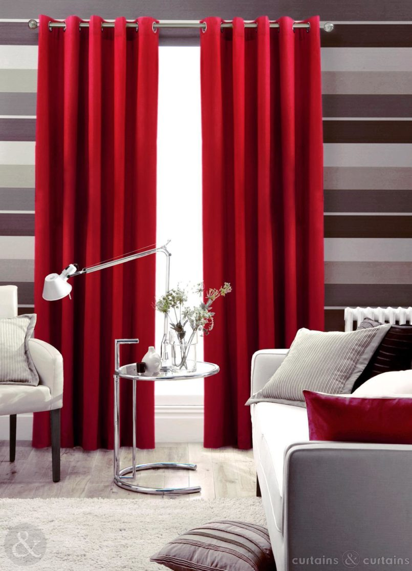 burgundy-curtains-with-horizontal-striped-curtains-and-contemporary-window-shade-with-horizontal-striped-curtains_horizontal-striped-curtains_striped-curtains-navy_steel-round-table-805x1114 20+ Hottest Curtain Design Ideas for 2021