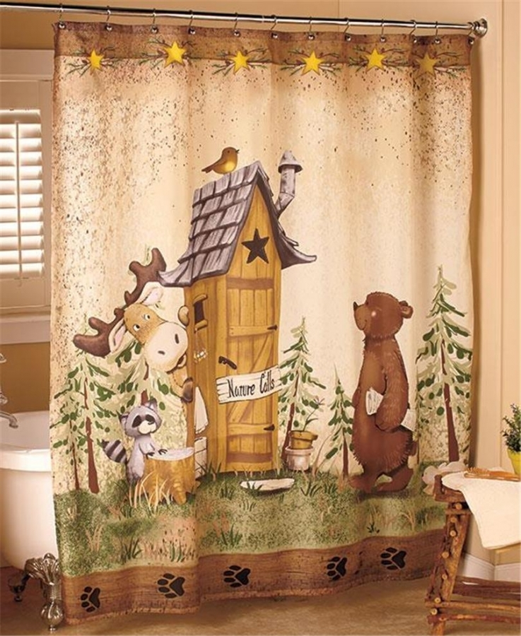country-shower-curtains-for-the-bathroom-for-nature-themed-shower-curtains 20+ Hottest Curtain Designs for 2019