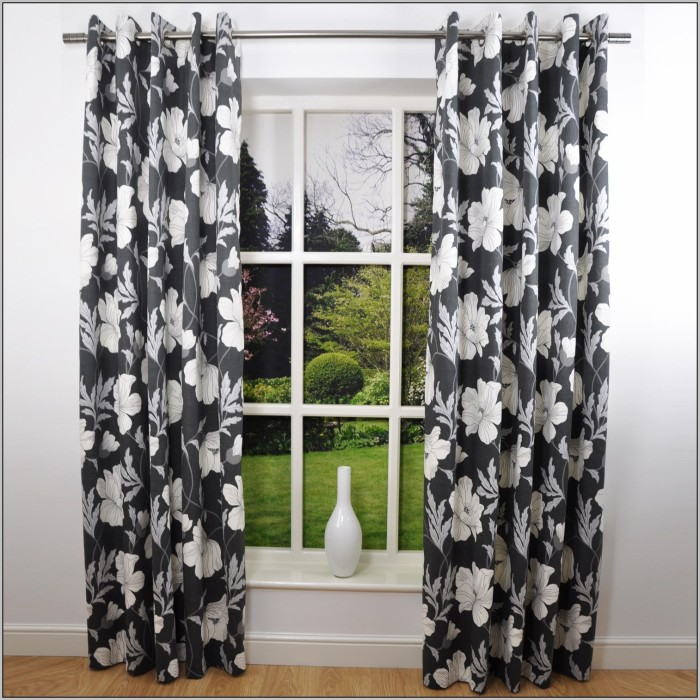 curtains-black-and-white-floral-700x700 20+ Hottest Curtain Designs for 2019