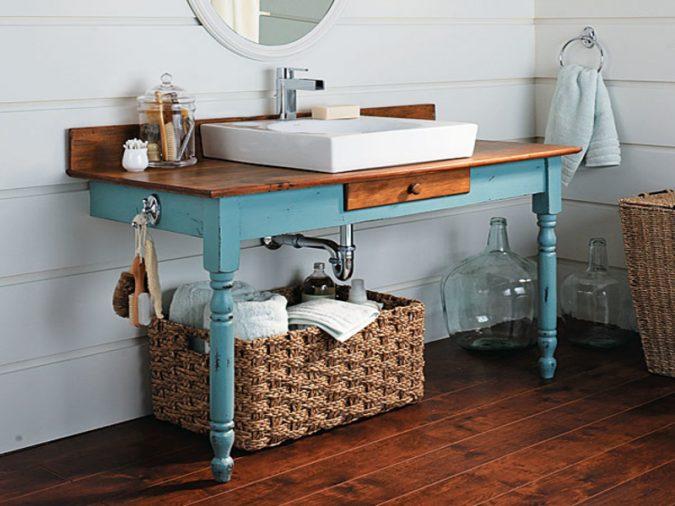 diy-bathroom-vanity-675x506 15 Ideas to DIY Your Stylish Bedroom & Bathroom Vanities