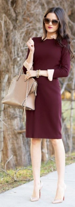 dresses-for-work-2-1 87+ Elegant Office Outfit Ideas for Business Ladies in 2020