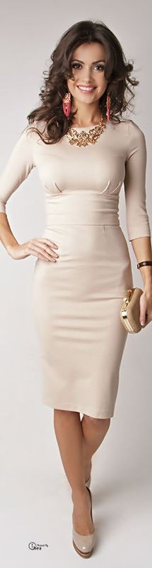 dresses-for-work-26 87+ Elegant Office Outfit Ideas for Business Ladies in 2021