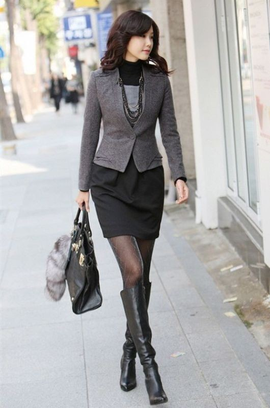 fall-and-winter-office-outfits-18-2 83+ Fall & Winter Office Outfit Ideas for Business Ladies 2018