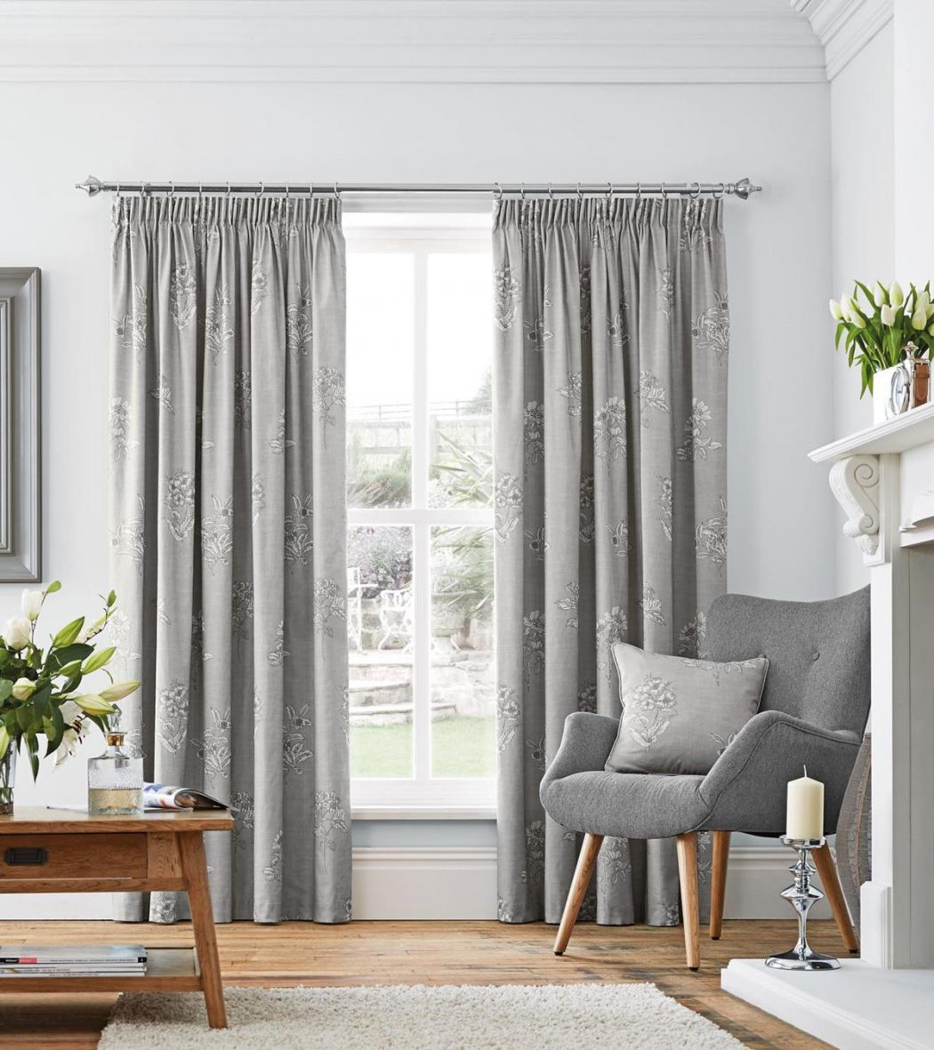 flora-dove-grey 20 Hottest Curtain Designs for 2017