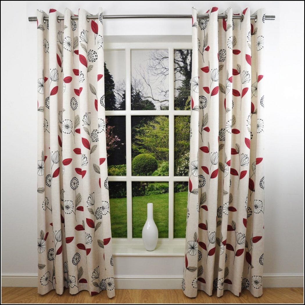 gray-and-red-curtains 20+ Hottest Curtain Design Ideas for 2021
