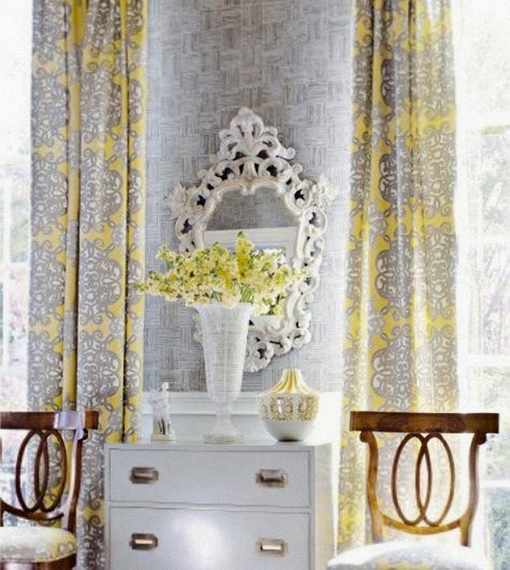 grey-and-yellow-romatic-curtains-baroque 20+ Hottest Curtain Design Ideas for 2021
