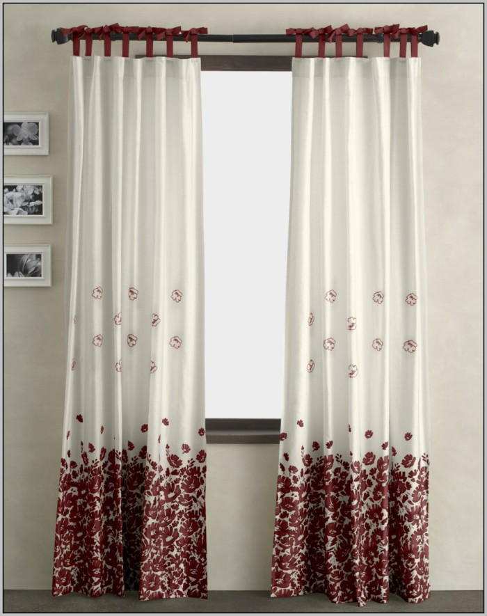 grey-white-and-red-curtains-700x885 20+ Hottest Curtain Designs for 2019