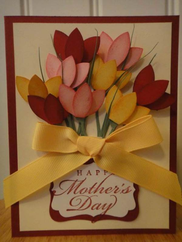 handmade-Mothers-Day-card-64 81+ Easy & Fascinating Handmade Mother's Day Card Ideas