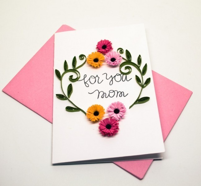 handmade-Mothers-Day-card-73 81+ Easy & Fascinating Handmade Mother's Day Card Ideas