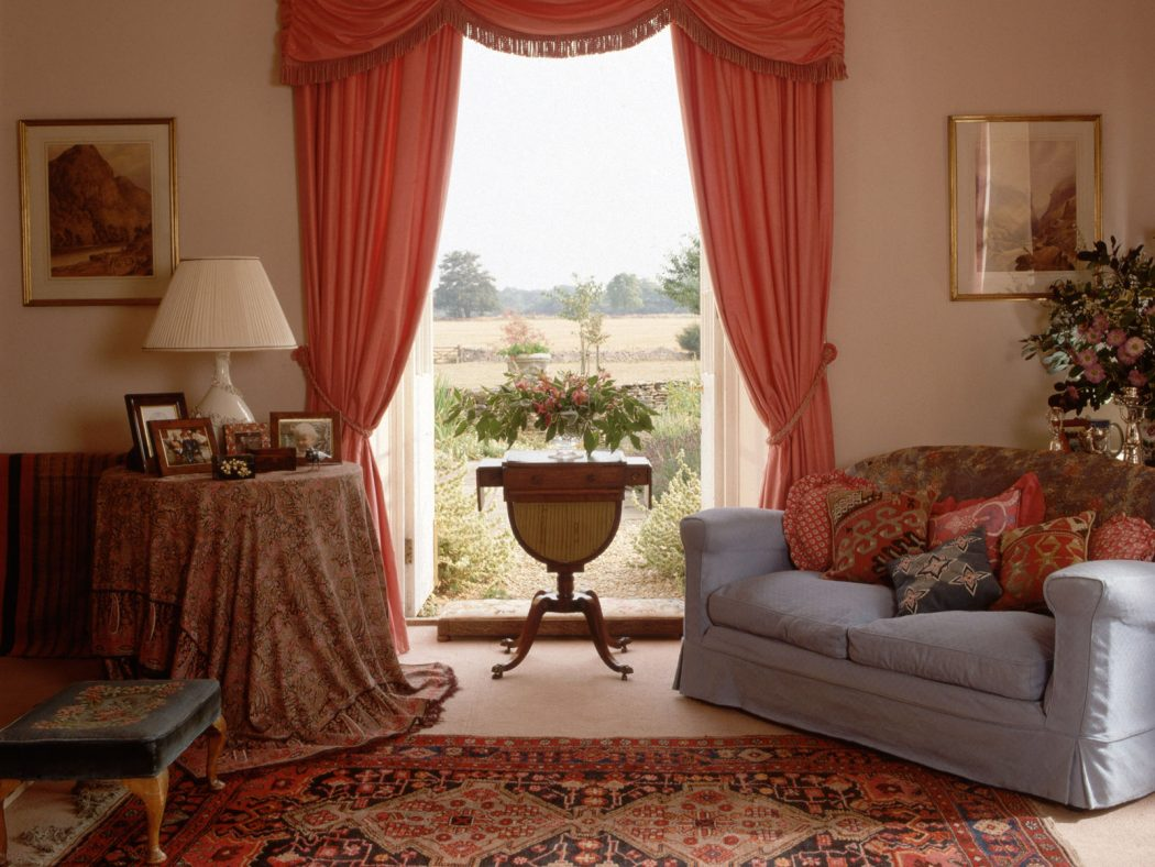 living-room-elegant-red-curtains-for-with-fabric-awesome-windows-white-arms-sofa-cover-floral-shag-wool-area_curtain-and-sofa-fabrics_home-decor_home-office-decorating-ideas-halloween-decor-pinterest- 20+ Hottest Curtain Designs for 2019