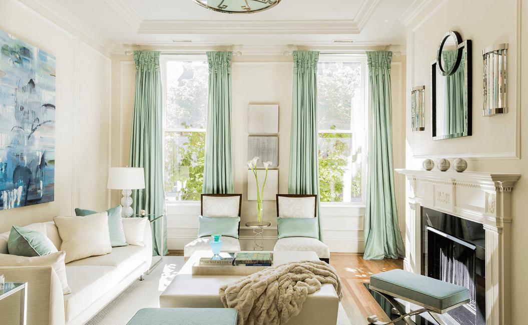 long-mint-curtains 20+ Hottest Curtain Design Ideas for 2021
