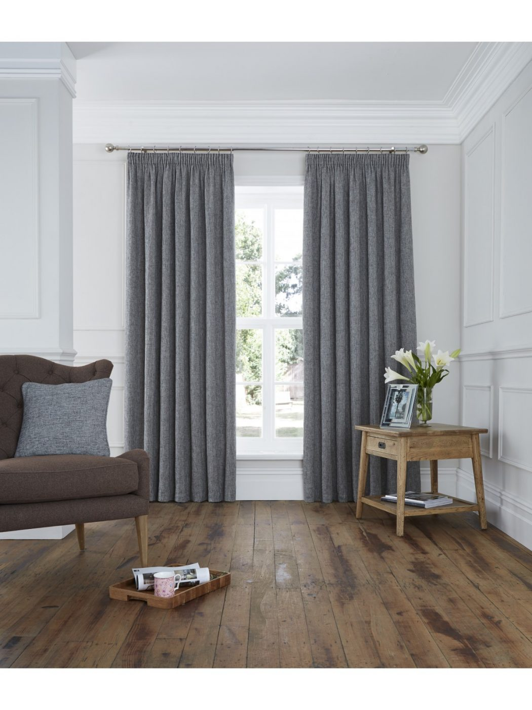 lucerne_plain_pencil_pleat_curtain_grey_1 20+ Hottest Curtain Designs for 2019