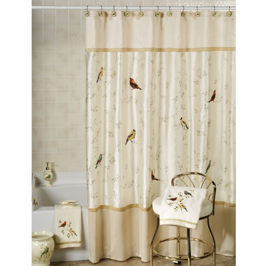 nature-inspired-shower-curtain-bathroom-leaf-nature-inspired-with-regard-to-nature-themed-shower-curtains 20+ Hottest Curtain Designs for 2019