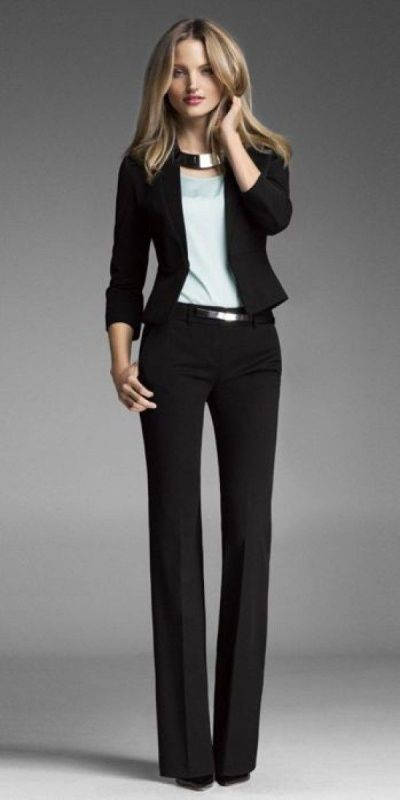 pantsuits-1-1 87+ Spring & Summer Office Outfit Ideas for Business Ladies 2017