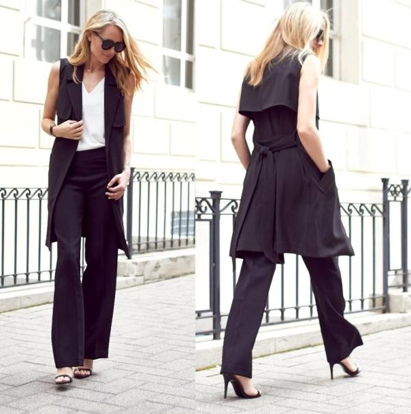 pantsuits-10-1 87+ Spring and Summer Office Outfit Ideas for Business Ladies 2019