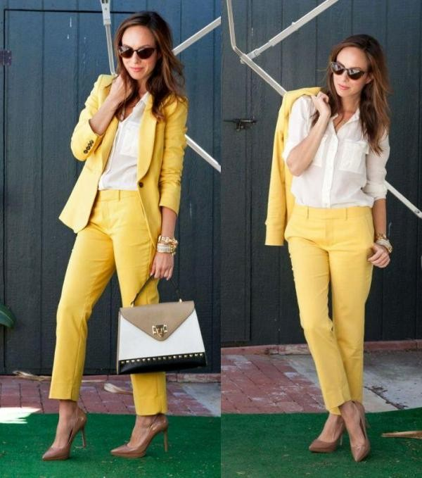 pantsuits-11-1 87+ Spring and Summer Office Outfit Ideas for Business Ladies 2019