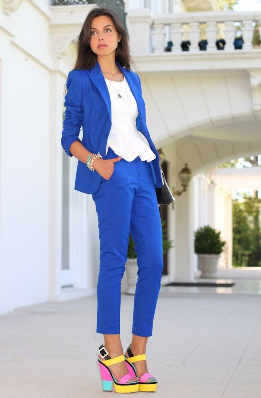 pantsuits-4-1 87+ Spring & Summer Office Outfit Ideas for Business Ladies 2017