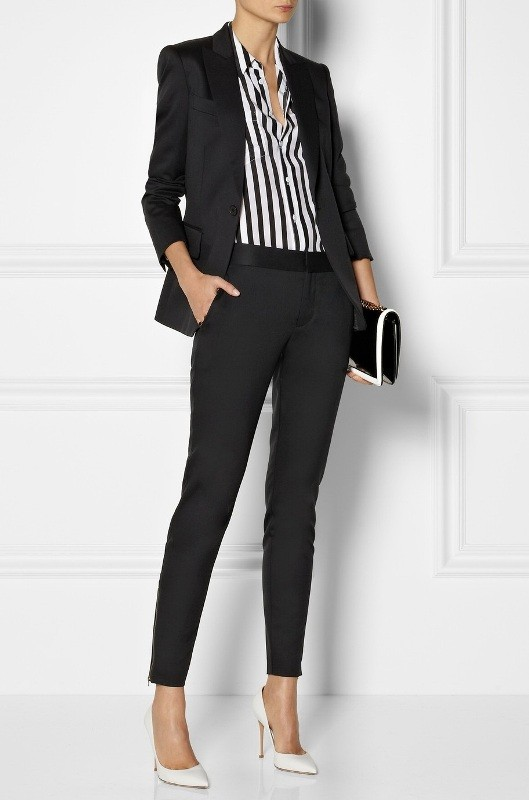pantsuits-5-1 87+ Spring & Summer Office Outfit Ideas for Business Ladies 2017