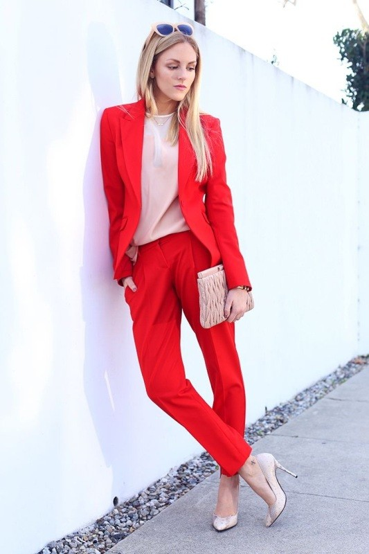 pantsuits-6-1 87+ Spring and Summer Office Outfit Ideas for Business Ladies 2019