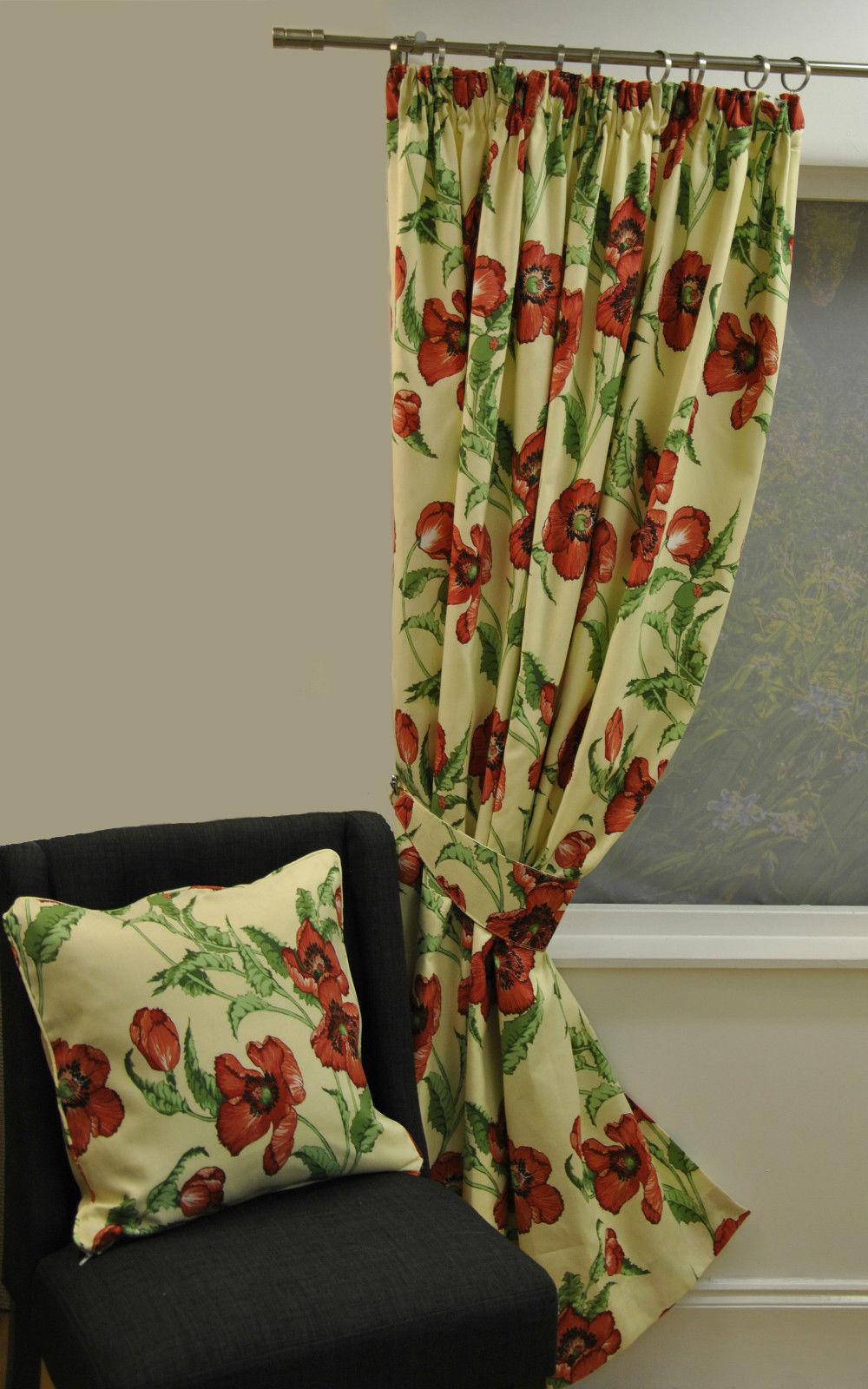 poppyprintredlined_f4deb_parent_600__1 20+ Hottest Curtain Design Ideas for 2020