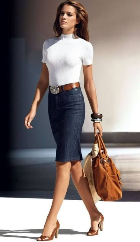 skirts-for-work-10-1 87+ Elegant Office Outfit Ideas for Business Ladies in 2020