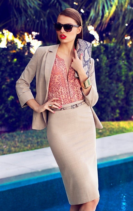skirts-for-work-11-1 87+ Spring and Summer Office Outfit Ideas for Business Ladies 2019