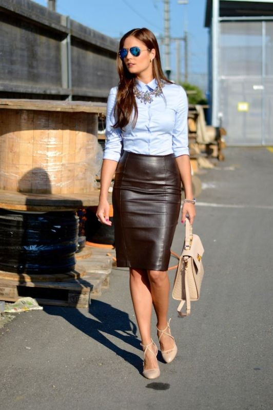 skirts-for-work-14-1 87+ Spring and Summer Office Outfit Ideas for Business Ladies 2019