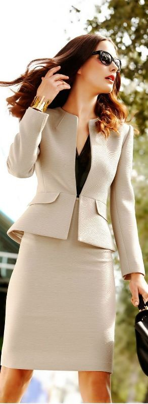 skirts-for-work-2-1 87+ Elegant Office Outfit Ideas for Business Ladies in 2020